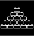 building block it is icon vector image