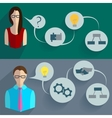 Business people thinking infographics vector image vector image