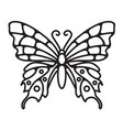 butterfly simple line art doodle vector image vector image