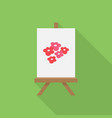 canvas painting icon set of great flat icons vector image vector image