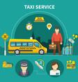 car service taxi composition vector image vector image