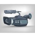 cartoon video camera vector image vector image