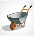 cartoon wheelbarrow for mining work vector image vector image