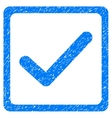 Checkbox Grainy Texture Icon vector image vector image