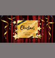 christmas calligraphy sale banner luxury gold vector image vector image