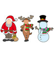 christmas characters without face vector image