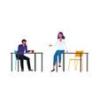 coffee break - cartoon people in business clothes vector image vector image