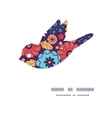 colorful bouquet flowers bird silhouette pattern vector image vector image