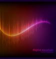 colorful orange-purple digital shining equalizer vector image vector image