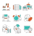 Conceptual Basic Education Icon Set vector image