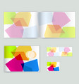 corporate booklet promotion template with color vector image