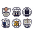 court judge police and justice scale icons vector image vector image