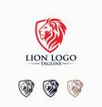 creative lion king logo image vector image vector image