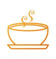 delicious soup bowl food of season autumn vector image vector image