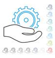 development service contour icon vector image