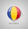 European flags set - Romania vector image vector image