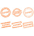 export stamps vector image
