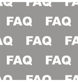 Faq seamless pattern vector image vector image