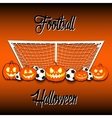 Football and Halloween vector image vector image