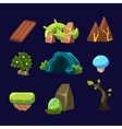 Forest Elements for Game Set vector image vector image