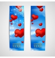 happy valentines day banners with red hearts vector image vector image