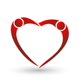 heart couple figure logo vector image vector image