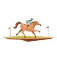 horse riding retro design concept vector image vector image