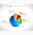 infographic design template 3d pie