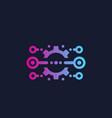 integration optimization icon with cogwheel vector image vector image