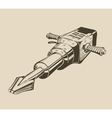 It is monochrome of jackhammer vector image