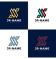 Jr monogram logo inspirations set letters logo