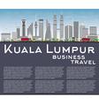 Kuala Lumpur Skyline with Gray Buildings vector image vector image