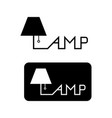 lamp logo for business company or brand flat vector image vector image