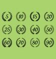 laurel wreaths symbols vector image