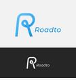 letter r logo road concept with r vector image vector image