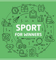 linear sport for winners vector image vector image