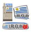 logo uruguay vector image vector image