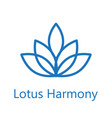 lotus flower logo icon vector image vector image