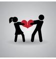 love and relationship stickmans broken heart vector image vector image