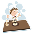 male pastry chefs vector image