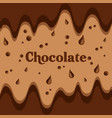 melted chocolate streams dripping image vector image vector image