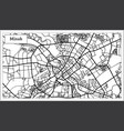 minsk belarus city map in black and white color vector image