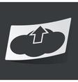 Monochrome cloud upload sticker vector image vector image