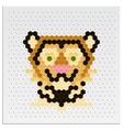 Mosaic Tiger vector image