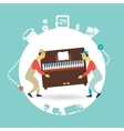 movers carry furniture piano vector image