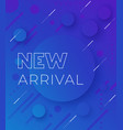 new arrival banner blue background