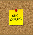 New arrivals vector image vector image