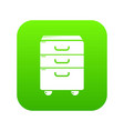 office closet icon green vector image vector image