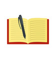 open notebook icon flat style vector image