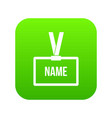plastic name badge with neck strap icon digital vector image vector image